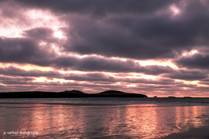 Sunset at Whitesands Beach